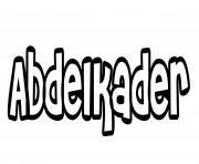 Abdelkader dessin à colorier