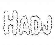 Hadj dessin à colorier