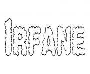 Irfane dessin à colorier