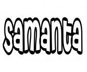 Samanta dessin à colorier