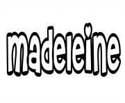 Madeleine dessin à colorier