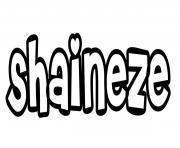 Shaineze dessin à colorier