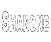 Shanone dessin à colorier
