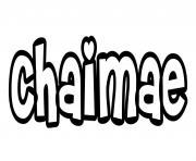 Chaimae dessin à colorier