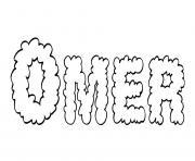 Omer dessin à colorier