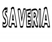 Coloriage Saveria