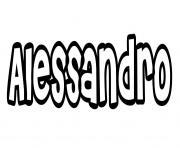 Alessandro dessin à colorier