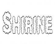 Shirine dessin à colorier