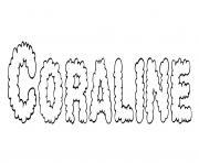 Coraline dessin à colorier