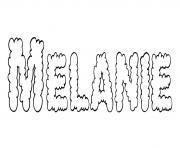 Melanie dessin à colorier