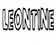 Leontine dessin à colorier