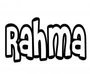 Rahma dessin à colorier
