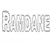 Ramdane dessin à colorier