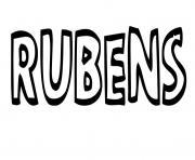 Rubens dessin à colorier