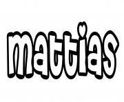 Mattias dessin à colorier