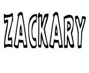 Zackary dessin à colorier