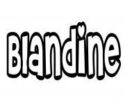 Blandine dessin à colorier