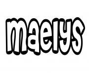 Maelys dessin à colorier