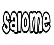 Salome dessin à colorier