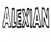 Alexian dessin à colorier