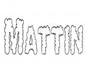 Mattin dessin à colorier