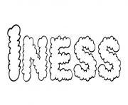 Iness dessin à colorier