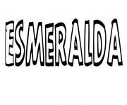 Esmeralda dessin à colorier