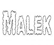 Malek dessin à colorier