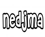 Nedjma dessin à colorier