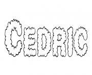 Cedric dessin à colorier