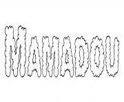 Mamadou dessin à colorier