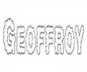 Geoffroy dessin à colorier