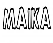 Maika dessin à colorier