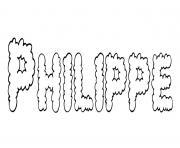 Philippe dessin à colorier