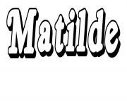 Matilde dessin à colorier