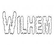 Wilhem dessin à colorier