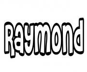 Raymond dessin à colorier