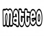 Matteo dessin à colorier