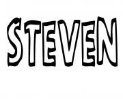 Steven dessin à colorier