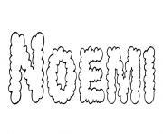 Noemi dessin à colorier