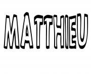 Matthieu dessin à colorier