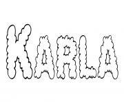 Karla dessin à colorier