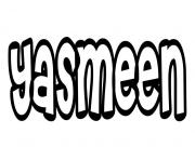Yasmeen dessin à colorier