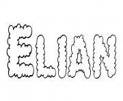Elian dessin à colorier