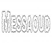 Coloriage Messaoud