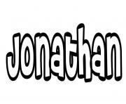 Jonathan dessin à colorier