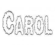 Carol dessin à colorier