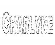 Charlyne dessin à colorier