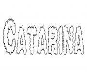 Coloriage Catarina