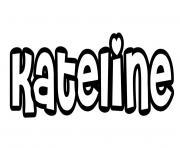 Kateline dessin à colorier